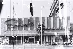The buildings and shop-fronts of West Hollywood's Sunset Strip have been faithfully documented by the American artist Edward Ruscha every two or three years since These images are the scratched and marked reworkings of images from his 1966 photo-book, . History Of Photography, Art Photography, Conceptual Photography, Museum Of Fine Arts, Art Museum, Sunset Strip, Le Far West, Monochrom, Photomontage