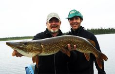 """Dr. Andrew Stoeckl landed a 41"""" northern pike. North Knife Lake -  Seatech Marine Products / Daily Watermakers"""