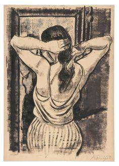 Vorm Spiegel, Hans Körnig, Zeichnung, 1938