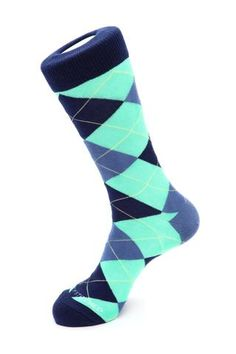 Unsimply Stitched Men's Traditional Argyle Size 8 to 12 Light Green/Blue Argyle Socks, Blue Socks, Male Feet, 2 Ply, Crew Socks, Blue Green, Traditional, Stitch, Collection
