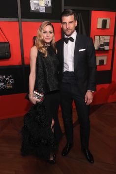 Olivia Palermo and Johannes Huebl attend the Montblanc 110 Year Anniversary Gala Dinner on April 5, 2016 in New York City.