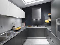 Stylish Grey Kitchen Inspiration by Ernestomeda | DigsDigs