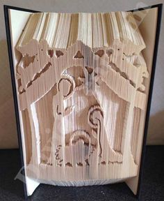 Create your own piece of stunning Book Art with this Nativity Scene Combi Cut and Fold Book Folding Pattern. Visit Today !!