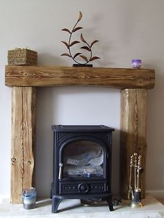 SOLID PINE WOOD OVER MANTLE FIREPLACE beam fire surround fire place Inglenook in Home, Furniture & DIY | eBay