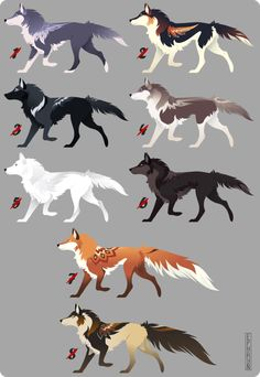 Wolf Adoptables 1 [CLOSED] by Ephryn. Cute Animal Drawings, Animal Sketches, Art Sketches, Anime Wolf Drawing, Furry Drawing, Mythical Creatures Art, Fantasy Creatures, Wolf Character, Wolf Artwork