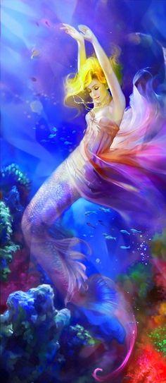 Rainbow Mermaid, by Anna Jones