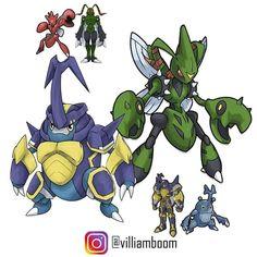 Pokemon Fusion, Digimon Fusion, Pokemon Rpg, Cool Pokemon, Pokemon Stuff, Power Rangers, Digimon Digital Monsters, Cartoon Monsters, Cross Art