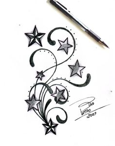 Tattoo Designs Stars And Tribal By Bixotattoo Designs Interfaces Tattoo Design And Tribal By Bixotattoo Designs Interfaces Tattoo Design 2009 Side Tattoos, Body Art Tattoos, New Tattoos, Sleeve Tattoos, Tatoos, Star Foot Tattoos, Tattoo Drawings, Art Drawings, Tribal Tattoos For Men