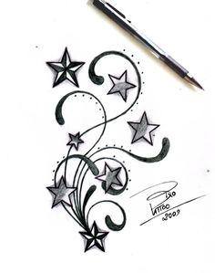 Tribal Tattoo Designs | Stars and Tribal by ~BixoTattoo on deviantART