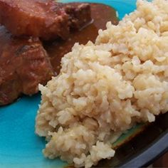 Oven Brown Rice Recipe  never been a big fan of brown rice but this is truly fluffy and delicious. My tweaks: I used coconut oil instead of water. And I use one cup of chicken stock to two cups water. Perfect brown rice