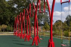 Abernathy Greenway park swings, The Big Imagine, by Jeff Hackney.  Sandy Springs playable art park.  Find more Sandy Springs neighborhood real estate photography at www.realtyclique.com