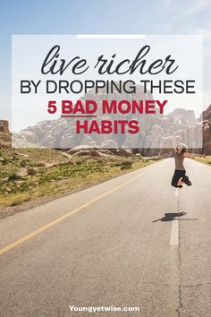 How to live richer by dropping these 5 bad money habits. This post is EXACTLY what I needed to read. I'm guilty of 3 of these bad habits but this post is motivation for me to kick those bad habits to the curb! http://youngyetwise.com/live-richer-dropping-5-bad-money-habits/