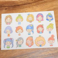 girls♡フレークシール Pen Illustration, Character Illustration, Basic Drawing, Drawing For Kids, Cartoon People, Girl Cartoon, Doodle Drawings, Easy Drawings, Mind Map Design