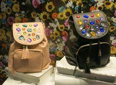 #pimpmybag: Embellished backpacks at Jouetie. WGSN store shot, Tokyo