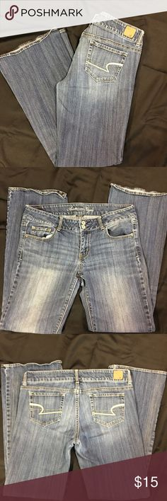 American Eagle Stretch Boot Cut size 12 jeans American Eagle Stretch Boot Cut size 12 jeans. Medium wash and worn but in good condition. American Eagle Outfitters Jeans Boot Cut