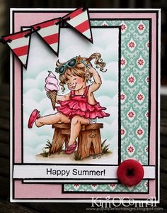 """Paper Perfect Designs by Kim O'Connell: Stamping Bella """"Lacie with Ice Cream by Mo Manning"""""""
