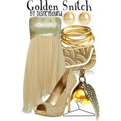 """Golden Snitch"" by lalakay on Polyvore"