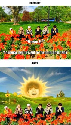 That's why he's called Sunshine Youngjae!