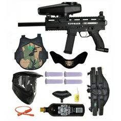 Tippmann X7 Phenom Electronic Paintball Marker Gun 3Skull 4+1 Protector Mega Set. Available at UltimatePaintball.com