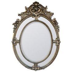 Silver Mistress Oval Mirror 36X68S/SIL