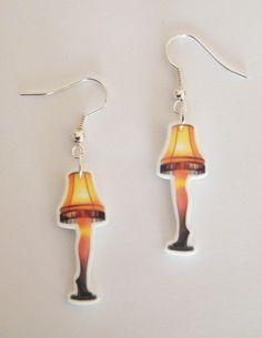Christmas Story Leg Lamp Earrings