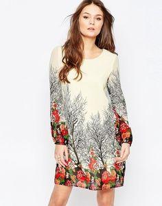 Yumi Long Sleeve Shift Dress
