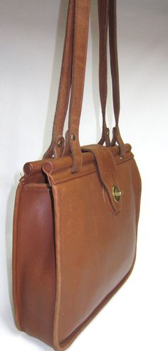 Vintage Coach Weston Tote Shopper Bag British Tan Leather USA 9021. $83.99, via Etsy.