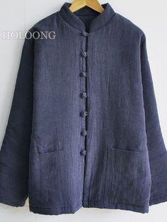 Custom Woolen Casual Vintage Men Cotton-padded Coats