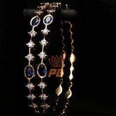 bracelets with ring Diamonds & Blue Sapphires - Close Setting Bangle by Parshwa Gold Bangalore Perfect Blend of Blue & Sparkling Diamonds - Traditional Vintage Close Setting Bangle by Parshwa Gold Bangalore