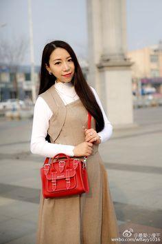 Grafea 手提包 时尚 红色 街拍 百搭 可爱 包包 单肩包