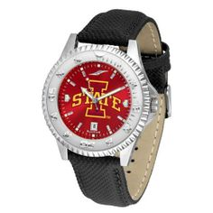 """Iowa State Cyclones NCAA Anochrome """"Competitor"""" Mens Watch (Poly/Leather Band) by SunTime. $84.59. Rotating Bezel. Color Coordinated. Calendar Date Function. Showcase The Hottest Design In Watches Today! A Functional Rotating Bezel Is Color Coordinated To Highlight Your Favorite Team Logo. A Durable, Long Lasting Combination Nylon/Leather Strap, Together With A Calendar Date, Round Out This Best Selling Timepiece. The Anochrome dial option increases the visual impa..."""