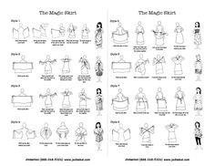 Long Magic Skirt, Silk Sari Wrap Skirt by Jedzebel Convertible Clothing, Convertible Dress, Wrap Skirt Tutorial, Skirt And Top Dress, Do It Yourself Wedding, Infinity Dress, Silk Wrap, Sewing Clothes, Sewing Hacks
