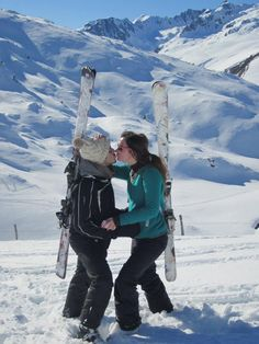 2 Skiss, 1 Kiss !! Des bisous au ski !