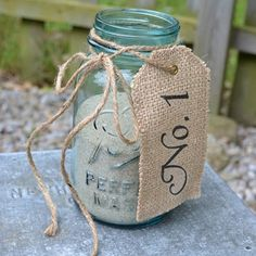 Mason jar decor....put a candle in the middle??