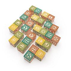 Uncle Goose Spanish ABC Blocks - Made in USA