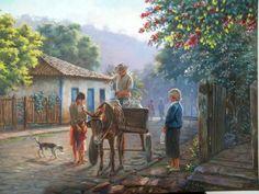 """Pinturas de Minas Gerais (367)  """"O entregador de leite"""" de Wilson Vicente"""