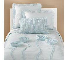 """Esther wants a """"cinderella room"""".  This comforter and these shams would be awesome.  I love the ruffles on the sham!"""
