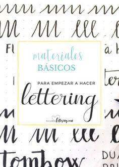 Materiales básicos para empezar a hacer lettering - Elclubdellettering.com