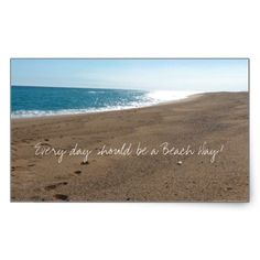 Beach with Quote Stickers