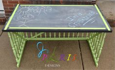 upcycled babty crib turned into DESK!!!!!!!!!!