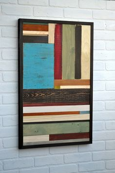Wall Art - Rustic Reclaimed Wood Art Sculpture - 18x30 - Available for immediate shipment