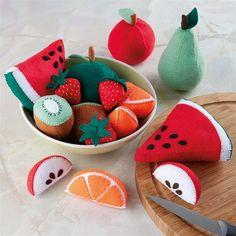 Handmade Felt Fruit Tutorial (with templates)