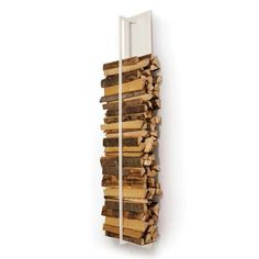 Short on space? The AK47 Tape Wood Storage ($1,232 to $1,468) piece is a great way to keep your firewood up and out of the way.