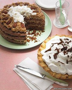 Chocolate Cake with Coconut-Pecan Frosting Recipe