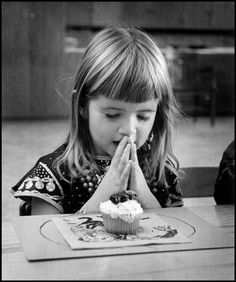 We said grace at every meal.... 1956~Photo by Wayne Miller (Still do) ... but you can't in school any longer.... :-(