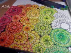 I'm still enjoying my colouring - here's a work in progress from the fab Johanna Basford book - Secret Garden.     I'm using Derwent Inkten...