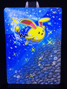 Here is an Azumarill card Alter that I painted. :) If you would like to see more you can visit my page on http://ift.tt/2pLlFxn