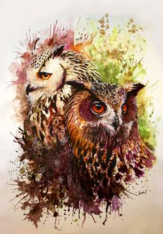 Ugler I Mosen by Sunima.deviantart.com on @DeviantArt