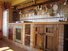 Kitchen in a Sicilian house #cocinasrusticasladrillo