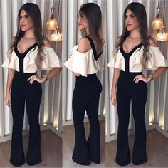 Off Shoulder Ruffle Jumpsuit Women Rompers Deep V Neck Slim Summer Jumpsuit 2018 Office Work Wear Elegant Ladies Party Jumpsuit